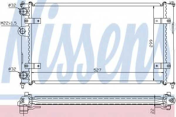 Радиатор охлаждения двигателя NISSENS 639951 - изображение
