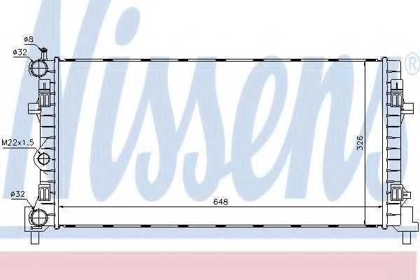 Радиатор охлаждения двигателя NISSENS 640012 - изображение