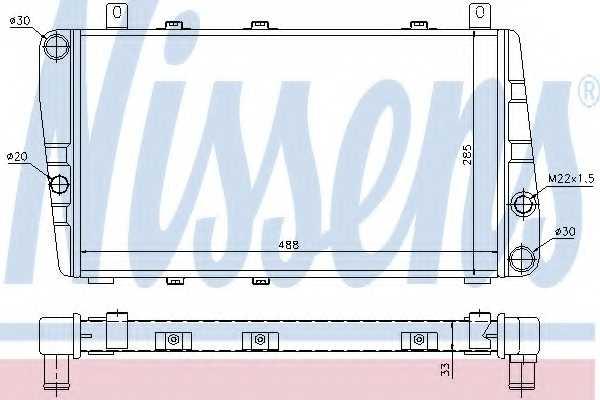 Радиатор охлаждения двигателя NISSENS 64011 - изображение