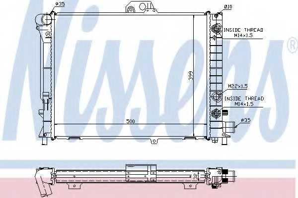 Радиатор охлаждения двигателя NISSENS 64033A - изображение
