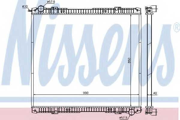 Радиатор охлаждения двигателя NISSENS 640670 - изображение