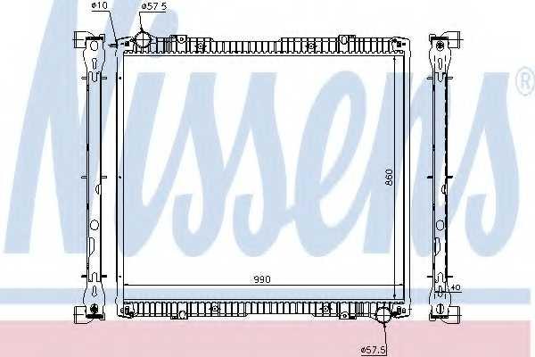 Радиатор охлаждения двигателя NISSENS 64067A - изображение