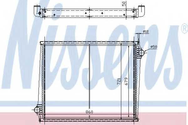Радиатор охлаждения двигателя NISSENS 64068A - изображение