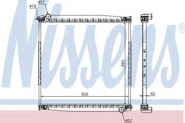 Радиатор охлаждения двигателя NISSENS 640690 - изображение