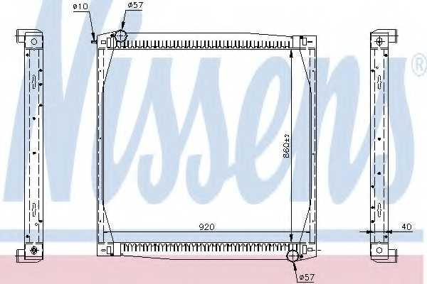 Радиатор охлаждения двигателя NISSENS 64069A - изображение