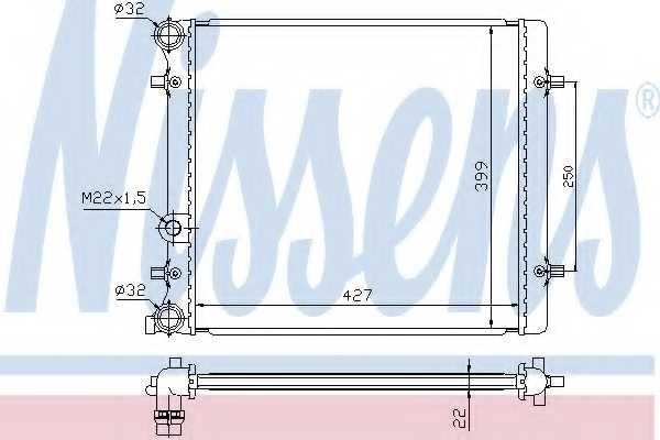 Радиатор охлаждения двигателя NISSENS 641011 - изображение