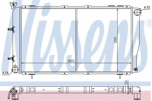 Радиатор охлаждения двигателя NISSENS 64113 - изображение