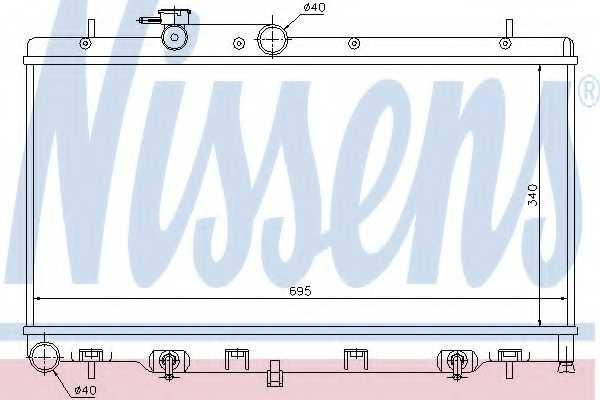Радиатор охлаждения двигателя NISSENS 64114 - изображение