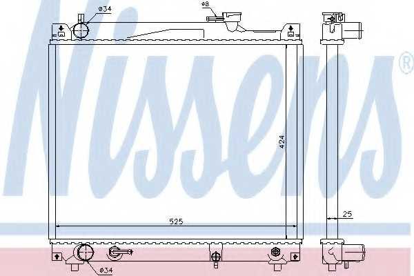Радиатор охлаждения двигателя NISSENS 64159 - изображение