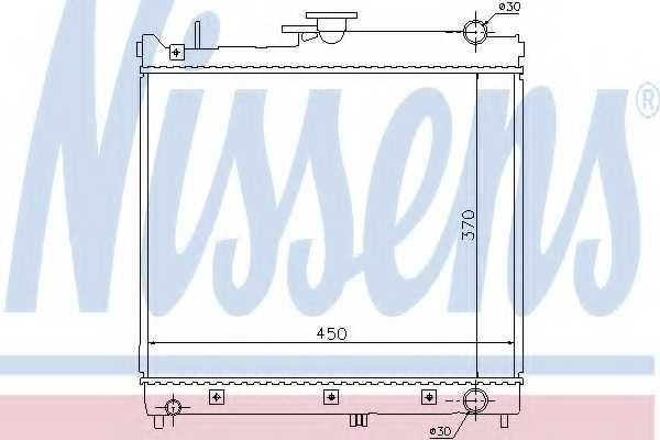 Радиатор охлаждения двигателя NISSENS 64162 - изображение