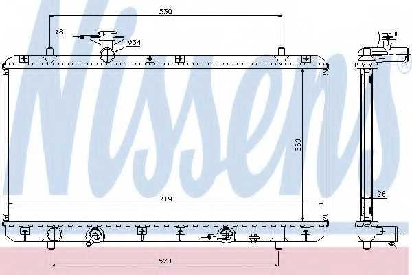 Радиатор охлаждения двигателя NISSENS 64166A - изображение