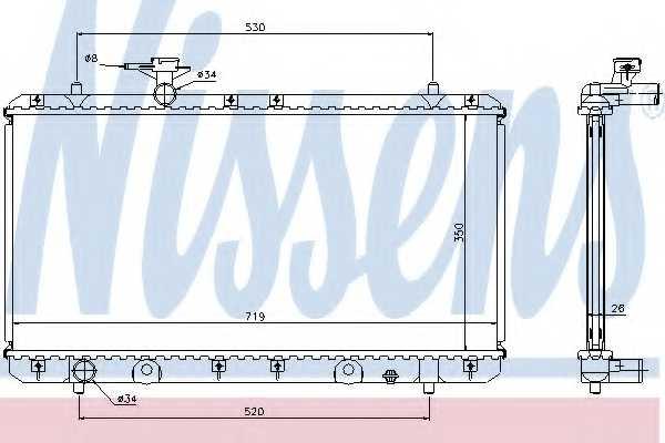 Радиатор охлаждения двигателя NISSENS 64167A - изображение