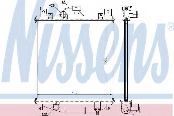 Радиатор охлаждения двигателя NISSENS 64173A - изображение