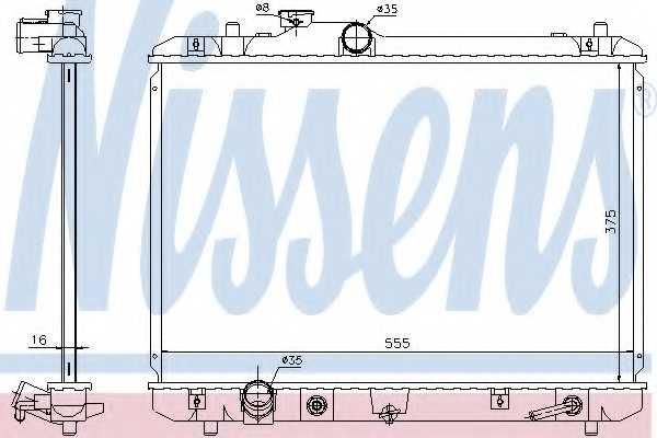 Радиатор охлаждения двигателя NISSENS 641755 - изображение
