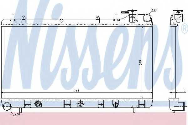Радиатор охлаждения двигателя NISSENS 64186 - изображение