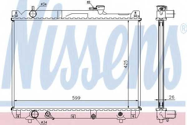 Радиатор охлаждения двигателя NISSENS 64194A - изображение