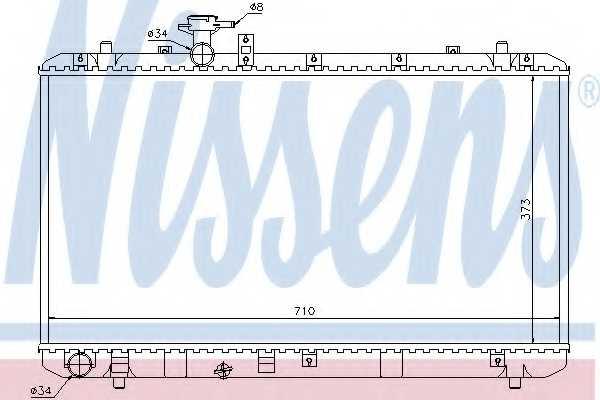 Радиатор охлаждения двигателя NISSENS 64197 - изображение