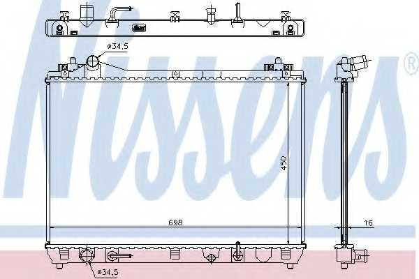 Радиатор охлаждения двигателя NISSENS 64199 - изображение