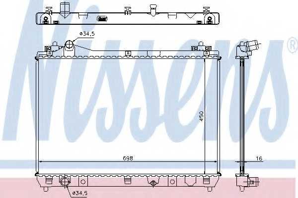 Радиатор охлаждения двигателя NISSENS 64200 - изображение