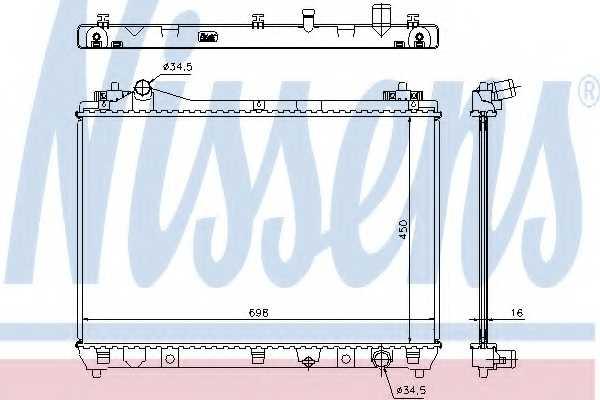 Радиатор охлаждения двигателя NISSENS 64202 - изображение