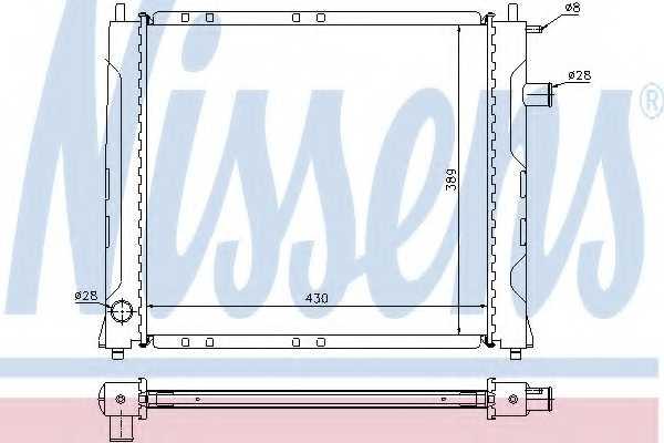 Радиатор охлаждения двигателя NISSENS 642091 - изображение