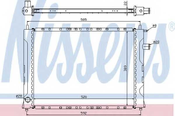 Радиатор охлаждения двигателя NISSENS 642111 - изображение