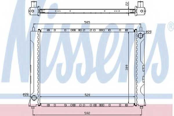Радиатор охлаждения двигателя NISSENS 642161 - изображение