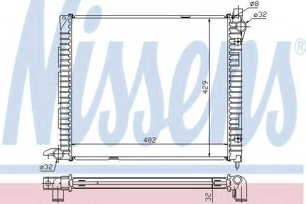 Радиатор охлаждения двигателя NISSENS 64300A - изображение