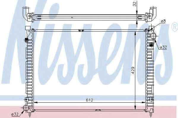 Радиатор охлаждения двигателя NISSENS 64301A - изображение