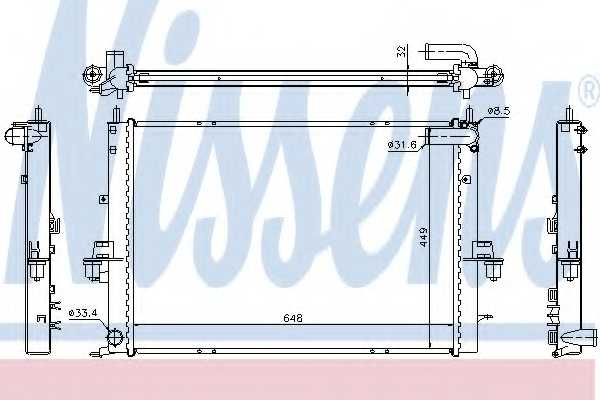 Радиатор охлаждения двигателя NISSENS 64308A - изображение