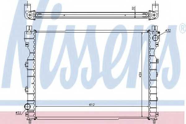 Радиатор охлаждения двигателя NISSENS 64310A - изображение