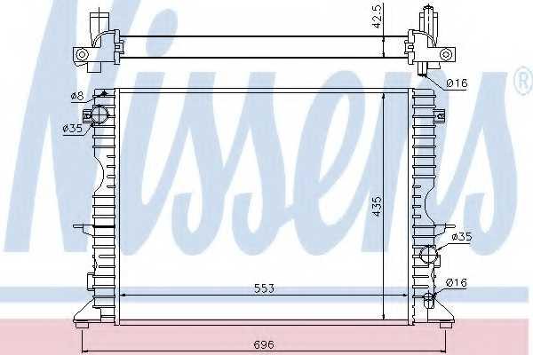Радиатор охлаждения двигателя NISSENS 64311A - изображение