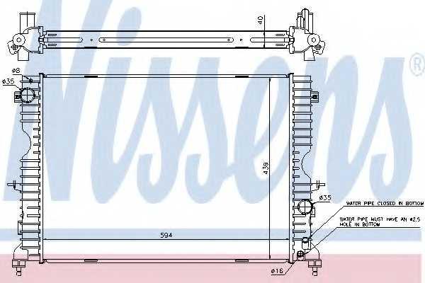 Радиатор охлаждения двигателя NISSENS 64312A - изображение