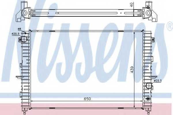 Радиатор охлаждения двигателя NISSENS 64313A - изображение