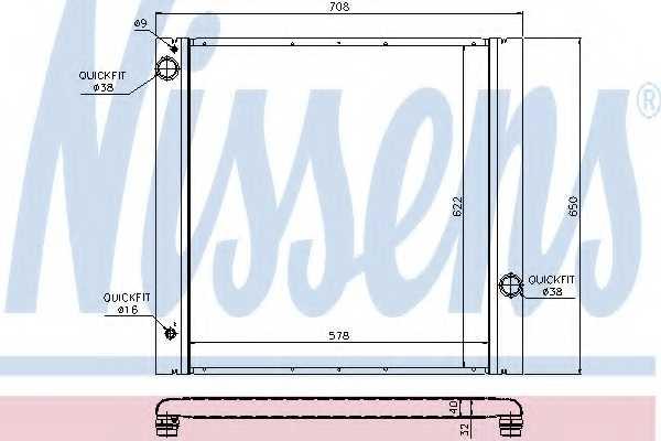 Радиатор охлаждения двигателя NISSENS 64314 - изображение