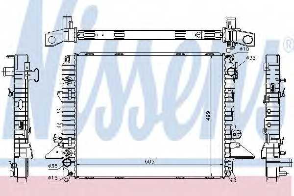 Радиатор охлаждения двигателя NISSENS 64321A - изображение