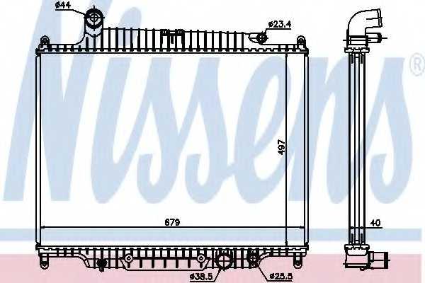 Радиатор охлаждения двигателя NISSENS 643222 - изображение