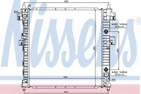 Радиатор охлаждения двигателя NISSENS 64326 - изображение