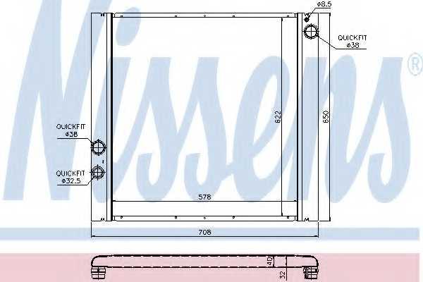 Радиатор охлаждения двигателя NISSENS 64327 - изображение