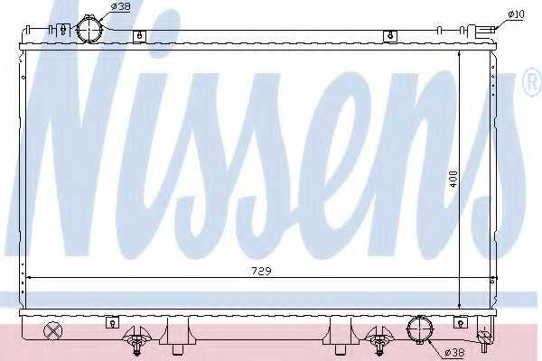 Радиатор охлаждения двигателя NISSENS 645951 - изображение