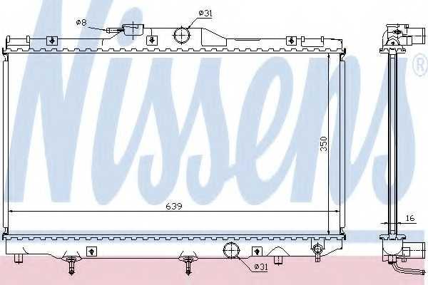 Радиатор охлаждения двигателя NISSENS 646281 - изображение