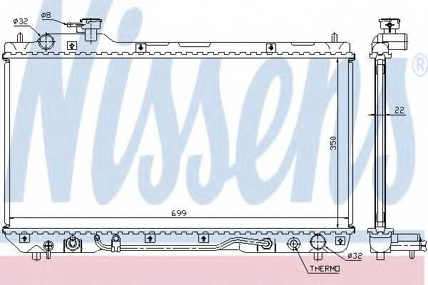 Радиатор охлаждения двигателя NISSENS 64630A - изображение