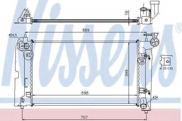 Радиатор охлаждения двигателя NISSENS 646321 - изображение