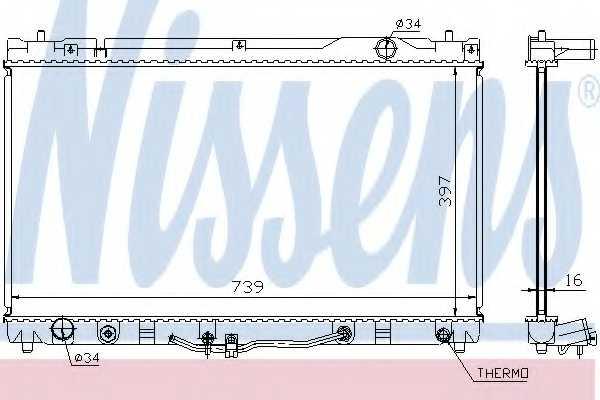 Радиатор охлаждения двигателя NISSENS 64633 - изображение