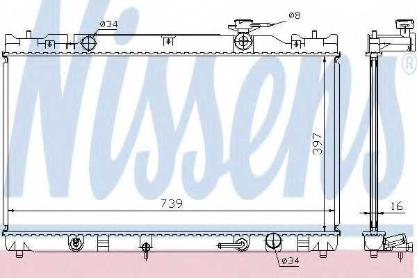Радиатор охлаждения двигателя NISSENS 646351 - изображение