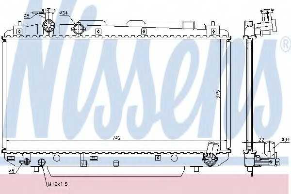Радиатор охлаждения двигателя NISSENS 64639A - изображение