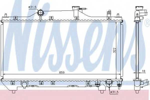 Радиатор охлаждения двигателя NISSENS 64640A - изображение