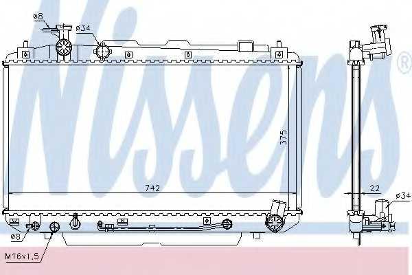 Радиатор охлаждения двигателя NISSENS 64644A - изображение