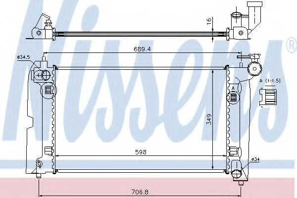 Радиатор охлаждения двигателя NISSENS 64646A - изображение