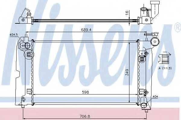 Радиатор охлаждения двигателя NISSENS 64648A - изображение